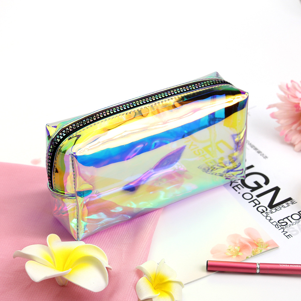 Custom holographic makeup bag