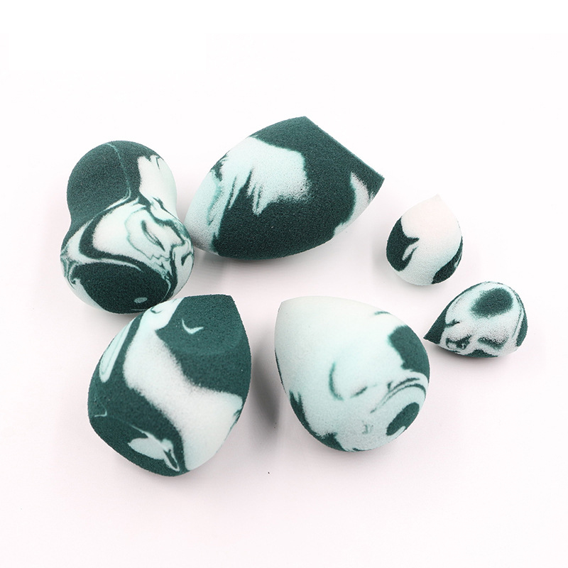 Army-Green marble makeup blending sponge