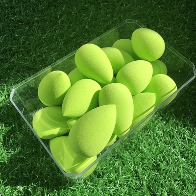 Neon green makeup drop sponge