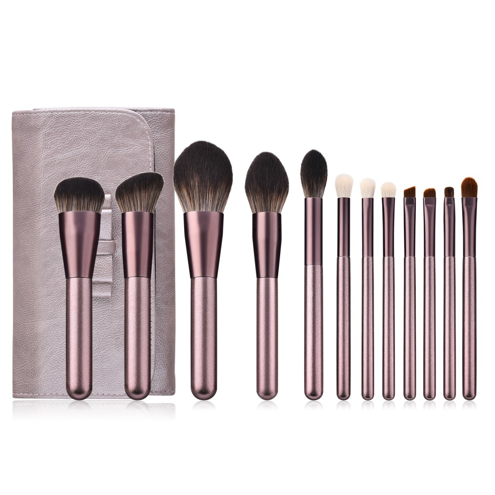 Super soft hair 12 piece makeup brushes set