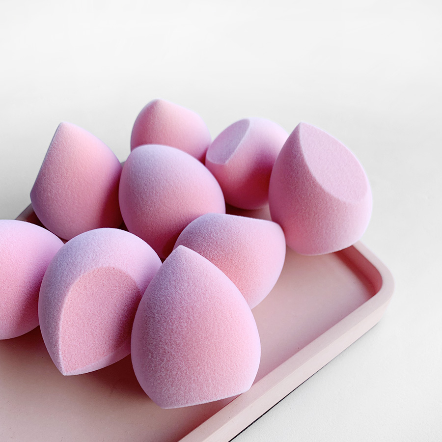 Velvet makeup sponge soft pink customized