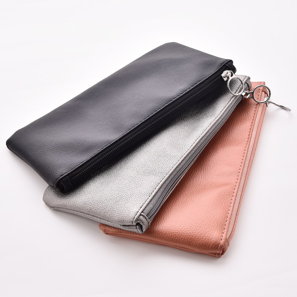 PU leather cosmetic bag for makeup available