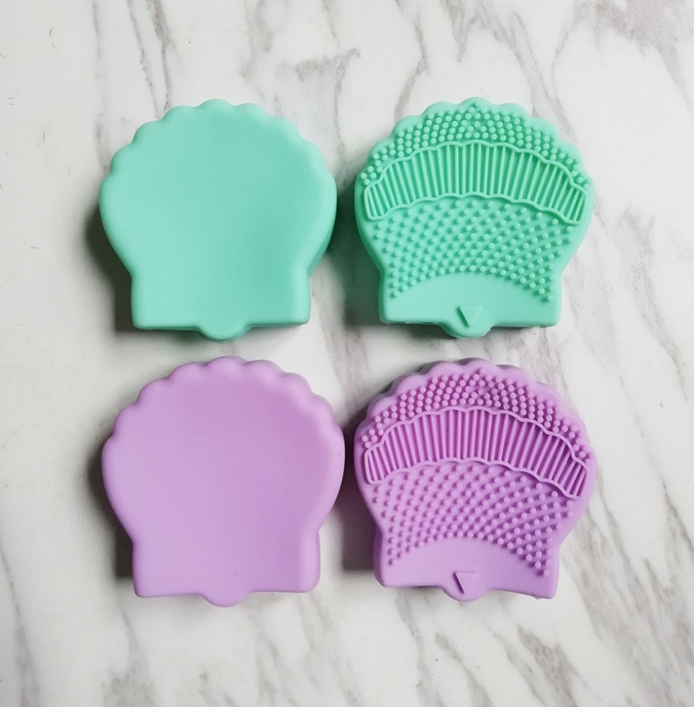 Shell Silicone Brushegg Cleaning Makeup Brushes