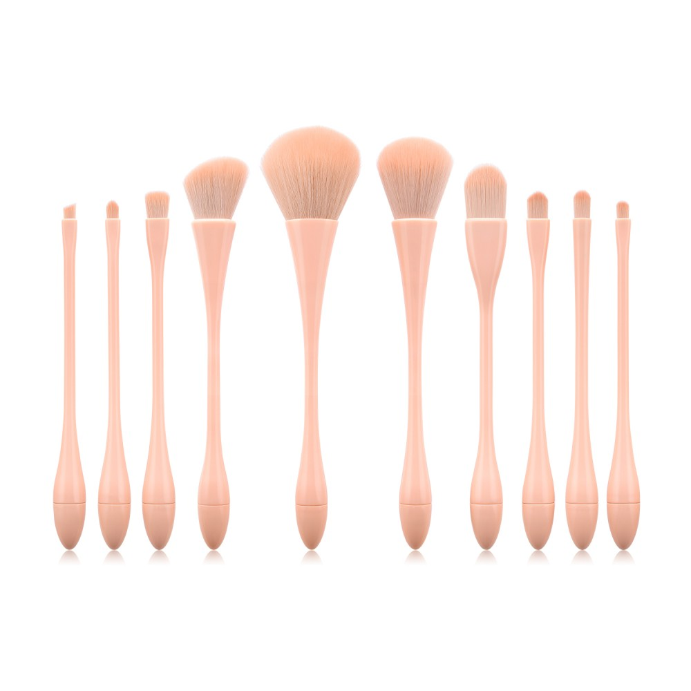 Nude pink makeup brushes set 10pcs per set